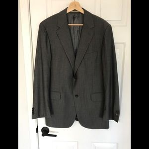 BURBERRY Two Button Dual Vent Grey Blazer